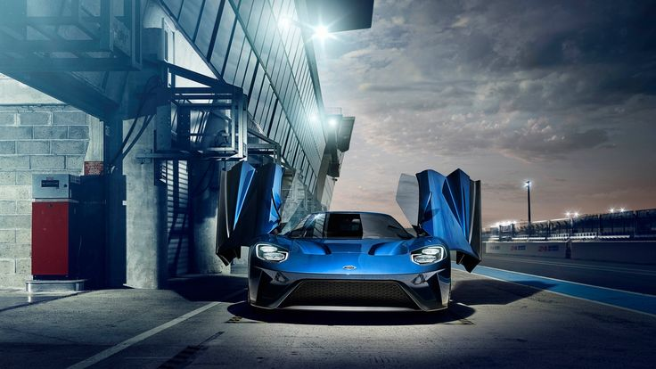 Blue Ford Gt  #Blue #Ford #Gt Check more at https://wallpaperfree.org/car-wallpapers/blue-ford-gt