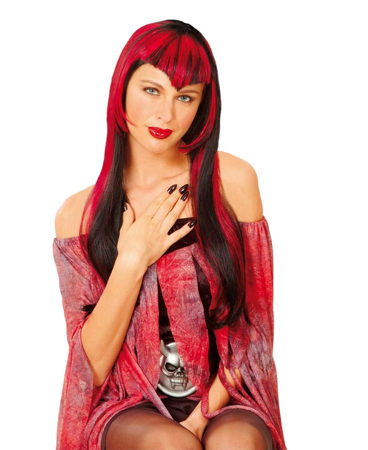 Perruque vampire rouge femme : Deguise-toi, achat de Perruques