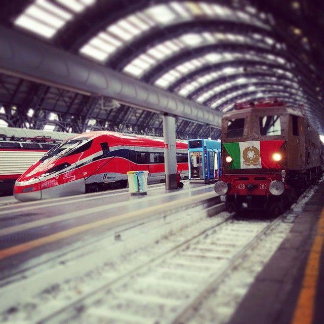 ETR1000 vs E428, il nuovo Frecciarossa incontra il Treno Presidenziale