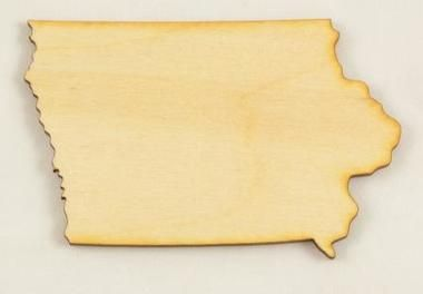 Looking for a cutout of Iowa? We have wood cutouts of all of the states in the USA. We cut our own pieces with a laser for precision. The best wood cutouts come from us.