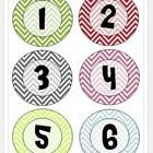 Use these chevron numbers for student notebooks or student labels. I cut them out and taped them to the floor by my door in a line, so that my students have assigned spots to line up on.