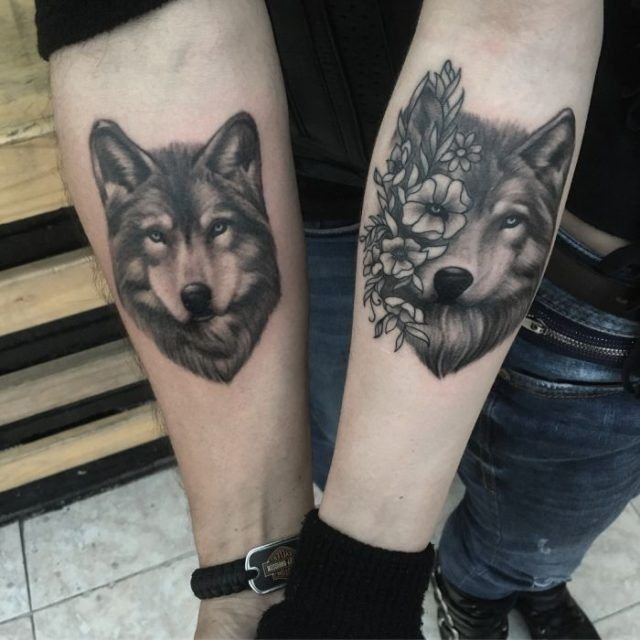 50 Of The Most Beautiful Wolf Tattoo Designs The Internet Has Ever Seen Kickass Things Wolf Tattoo Design Couples Tattoo Designs Wolf Tattoo