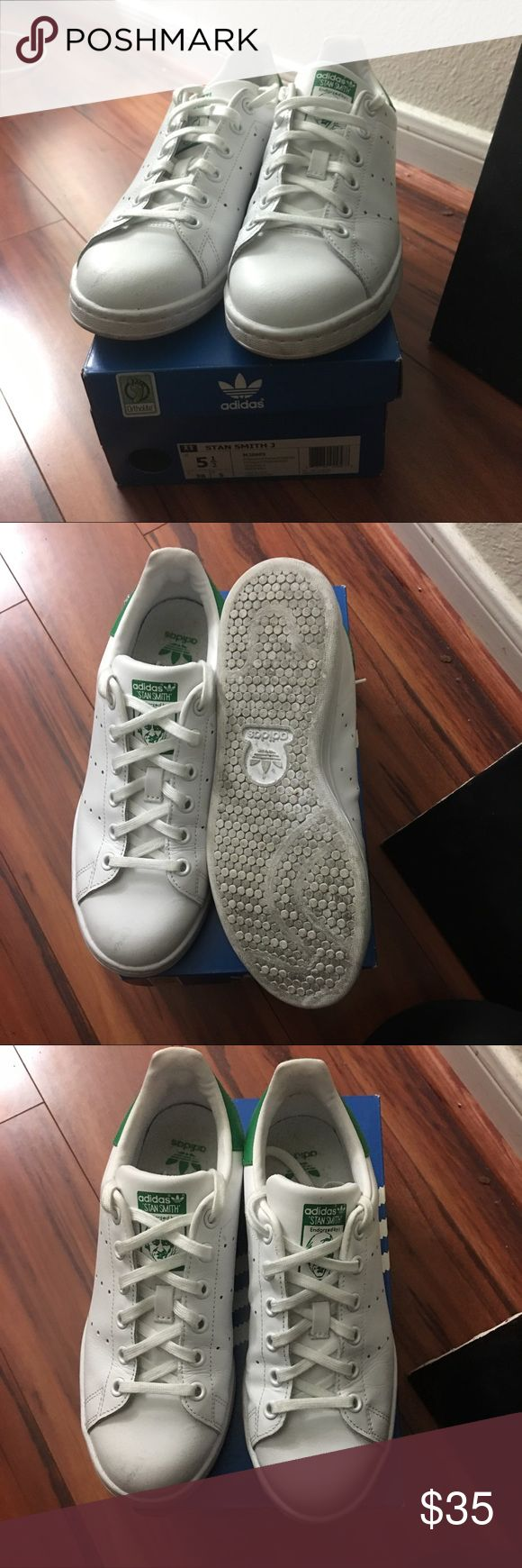 ADIDAS STAN SMITHS barely used Stan smiths, only worn a few times. Kids 5.5 is equivalent to a size 7 in women's! In perfect condition! Taking offers 💘 adidas Shoes Sneakers