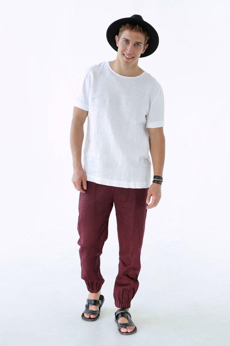 Mens linen pants. Pants for men. Natural linen. Gift for man. Mans organic pants. Linen trousers. Leisurewear. Trousers for men. by BlackFicus on Etsy https://www.etsy.com/listing/524563618/mens-linen-pants-pants-for-men-natural