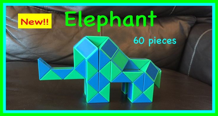Smiggle Python Puzzle or Rubik's Twist 60 Tutorial: How to Make an Elephant Shape.  Check out the new Facebook Page where you will find images of all Antoine's video tutorials to date together with links to all his videos. Click the 'Like' button to see his Facebook posts when he uploads new videos https://www.facebook.com/AntoineTutorials :)