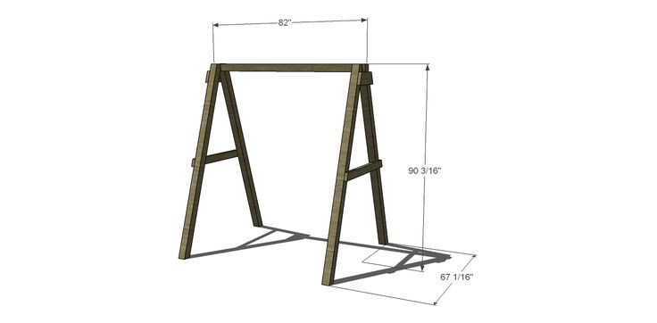 dimensions for free diy furniture plans  how to build a swing a