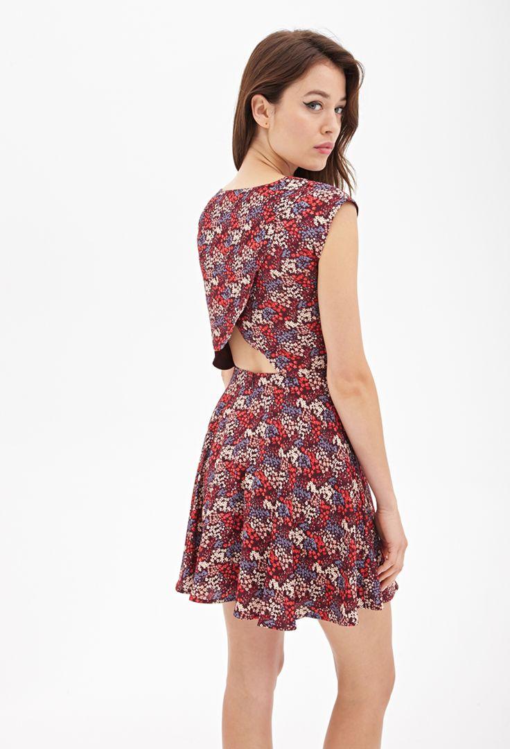 Vestido Floral con Espalda Tulipán - vestidos - 2000091790 - Forever 21 EU