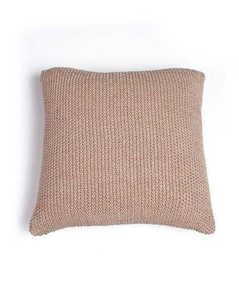 Moss Stitch Metallic Cushion Copper/Stone |Krinkle Gifts