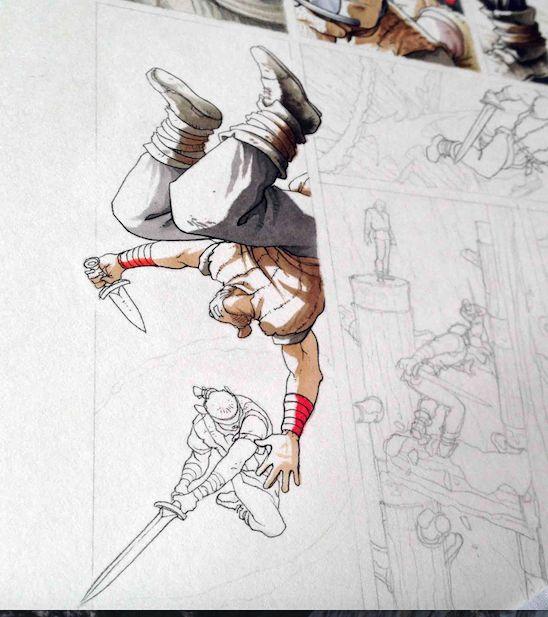 """Travail en cours "". Technique: Copic markers + crayons de couleur. ""Work in progres"". Technique: Copic markers + colour pencils. ""Lavori in corso"". Tecnica: Copic e matite colorate. #stefanotamiazzo #tamiazzo #copic #sketchcopic #bd #bandedessinee #comicart #fumetto #copicfrance #copicitalia"