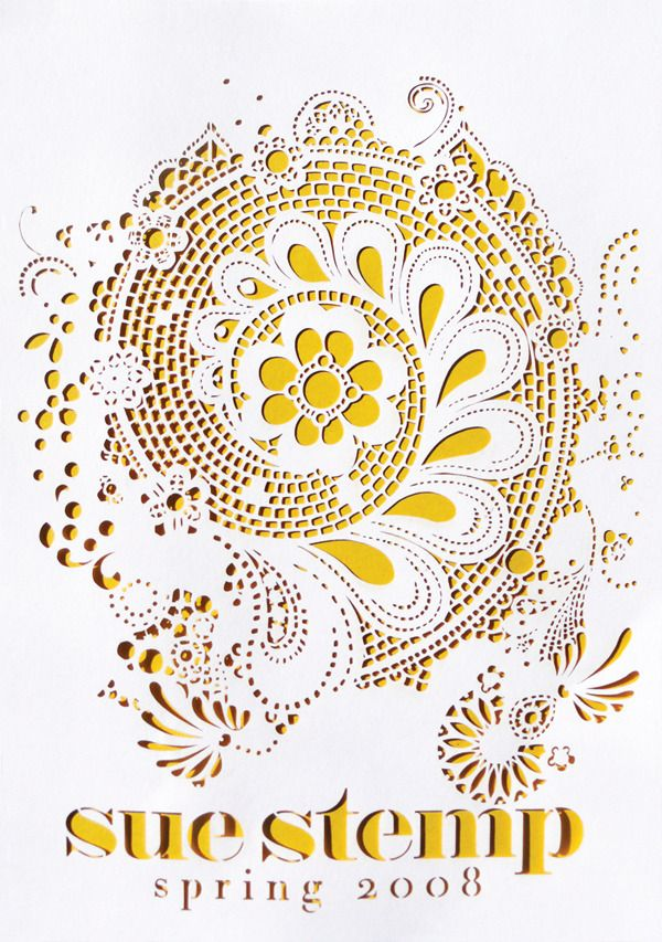 Stencil + Lace = WOAH