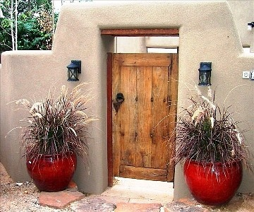 I like the Adobe wall and gate that could be added on the east side and possibly…