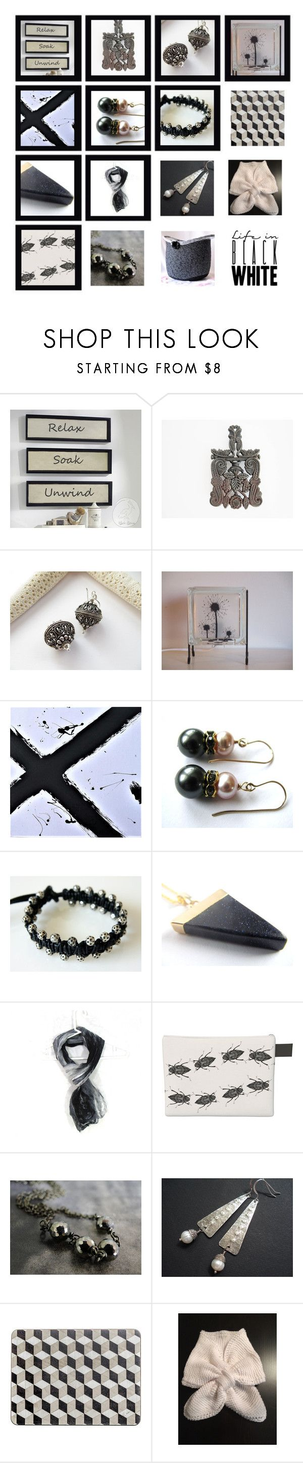 """""""Life in Black and White"""" by whimzingers ❤ liked on Polyvore featuring Hostess and vintage"""