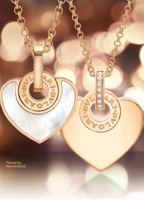 bvlgari heart pendants