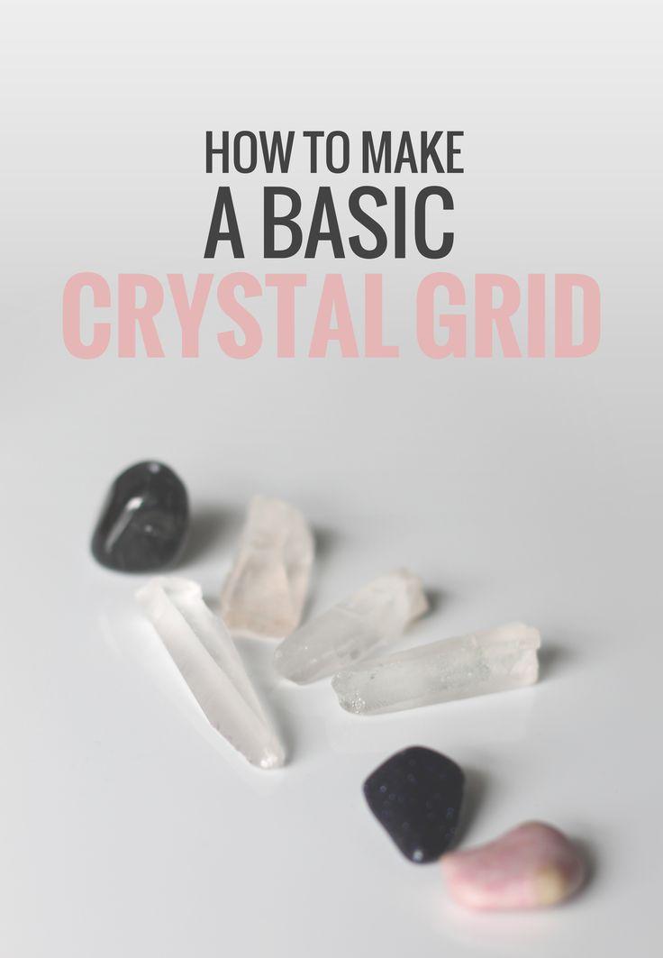 how to make a basic crystal grid rogue wood blog