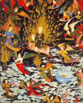 """""""¡Qué maravilla un jardín en medio de tanto fuego! Capaz de acoger cualquiera de entre las diversas formas mi corazón se ha tornado: Es prado para gacelas y convento para el monje; para los ídolos, templo, Kaaba de quien le da vueltas; es las Tablas de la Tora y es el Libro del Corán. La religión del amor sigo adonde se encaminen sus monturas, que el amor es mi práctica y mi fe.""""   Ibn Arabi, Taryumân al-ashwâq (El intérprete de los deseos)"""