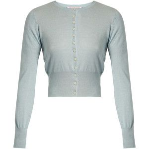 The Vampire's Wife Round-neck silk and cashmere-blend cardigan