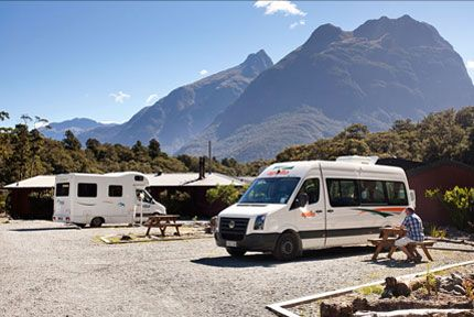 Campervans in Milford Sound