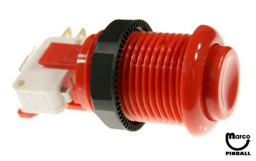 Pushbutton - red assembly - KIT - A-15-9268-31 - Marco Pinball Parts
