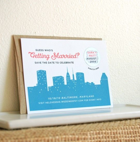 How To Make Scratch Off Save The Date Cards For Your Wedding   Bridal Musings