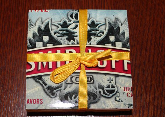 Smirnoff Beer Coasters Custom Made