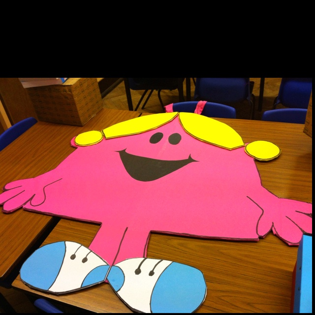 Book Week Costume - could do as a class activity. I'm sure there is enough Mr men characters for a whole class or maybe the staff!