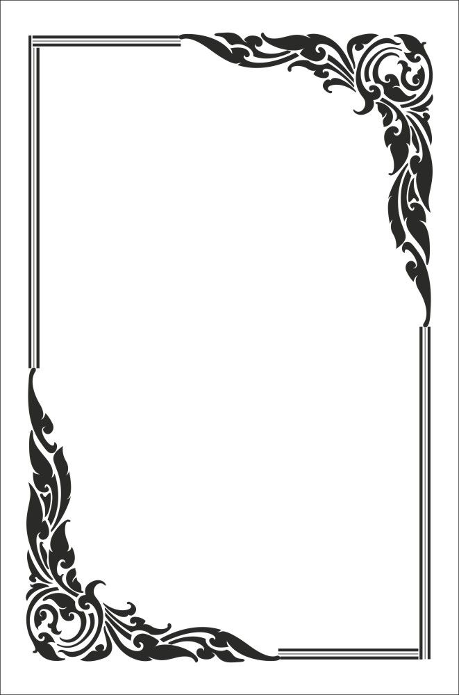 Лист с рамкой картинка