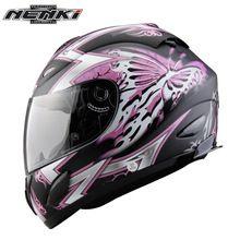 US $78.07 NENKI Motorcycle Helmet Butterfly Printing Full Face Moto Helmet Street Motorbike Riding Racing Helmet Clear Lens Shield 802. Aliexpress product