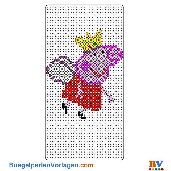 Peppa Fee Bügelperlen Vorlage - Peppa Pig perler bead pattern