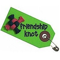 Make A Friendship Knot for Friendship Day, the first Sunday in August.