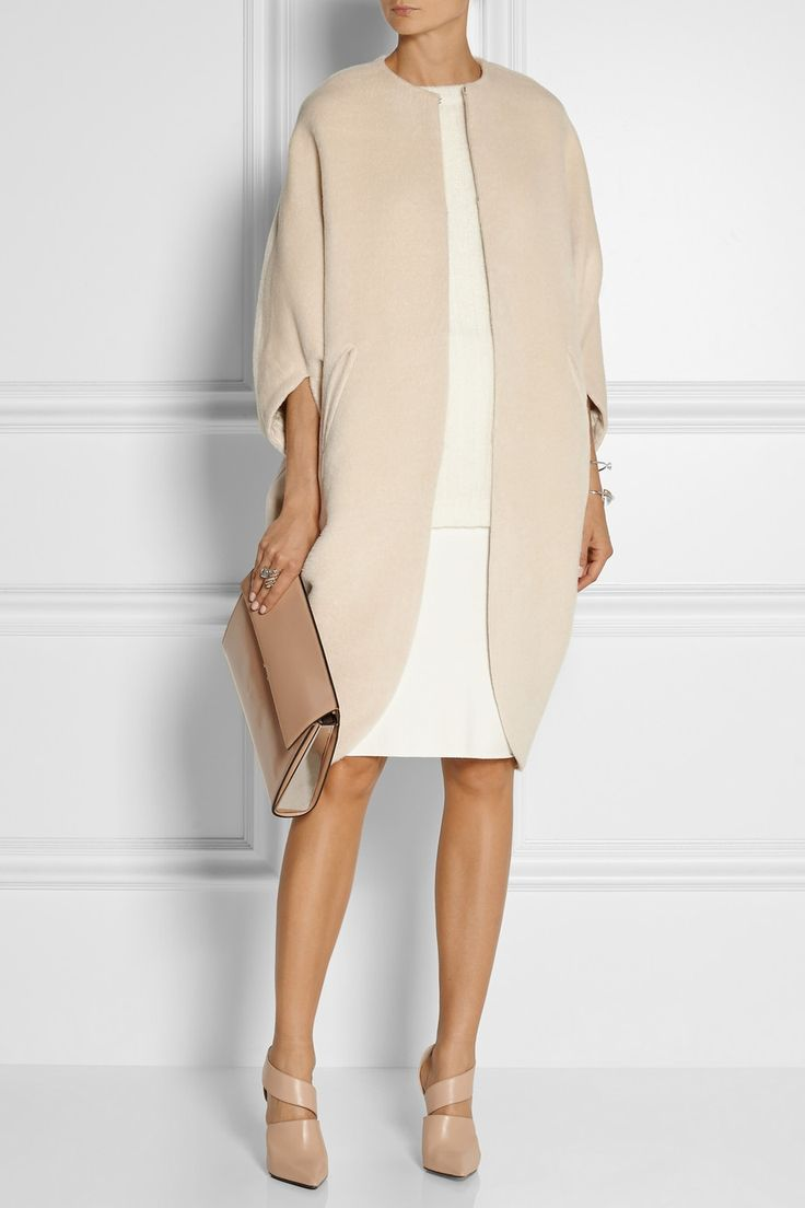 Zero+MariaCornejo | Koya alpaca and wool-blend cape | NET-A-PORTER.COM
