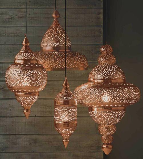 Marokkanische Muster erwärmen Ihre Wohnung im Herbst (Lamp Diy Ideas)