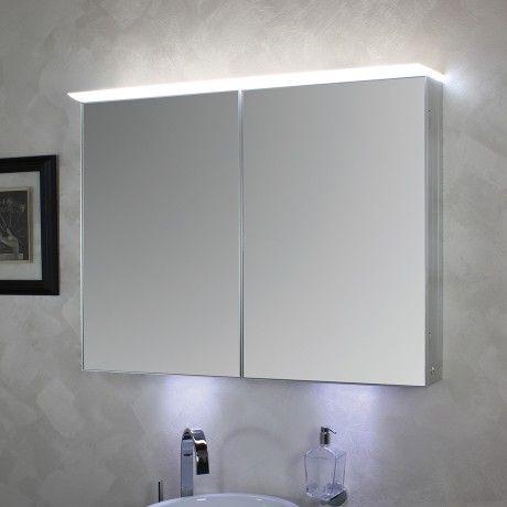 Luxury KOH I NOOR Top LED Spiegelschrank beleuchtet mit Oberbeleuchtung