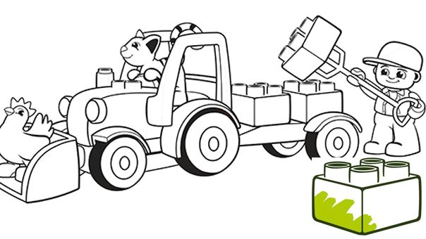 LEGO® DUPLO® - Coloring pages - Truck