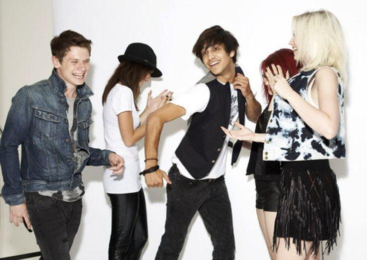 SKINS - GEN 2: Cook, Effy, Freddie, Emily, and Naomi played by Jack O'Connell, Kaya Scodelario, Luke Pasqualino, Kathryn Prescott and Lily Loveless