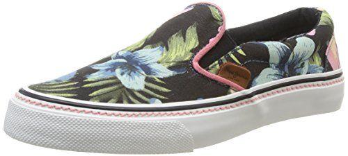 Pepe Jeans London ALFORD HAWAI, Damen Sneakers, Schwarz (999BLACK), 41 EU - http://on-line-kaufen.de/pepe-jeans/41-eu-pepe-jeans-london-alford-hawai-damen