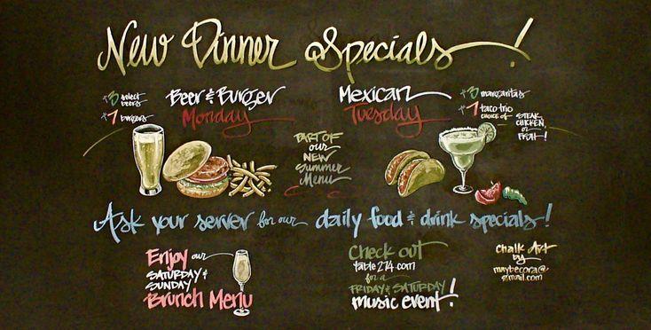 Cafe+Chalkboard+Menu | restaurant chalkboard art