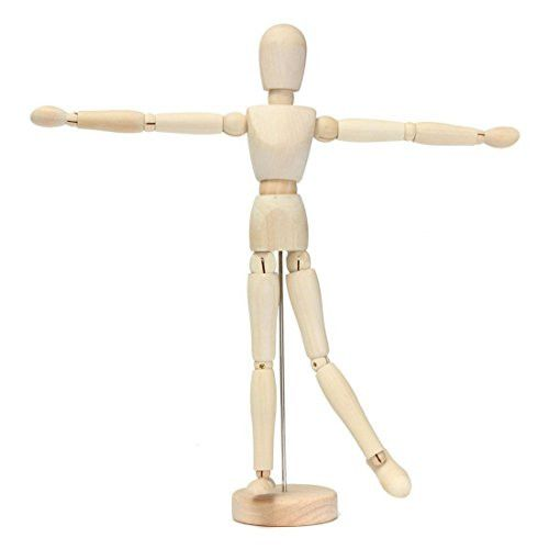wooden man - TOOGOO(R)12 artist wooden man mamikin mannequin sketch sketching lay figure