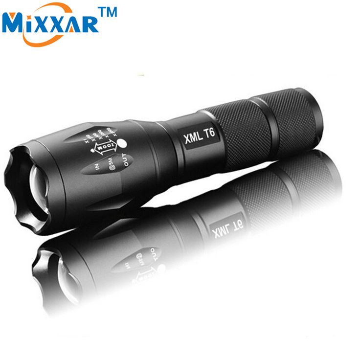 XM-L T6 Cree 3000LM LED Torch Adjustable Portable LED Flashlight Torch light for 1x18650 OR 3xAAA rechargeable battery