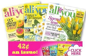 All You Magazine Deal: 1 Year for $5 - Southern Savers :: Southern Savers