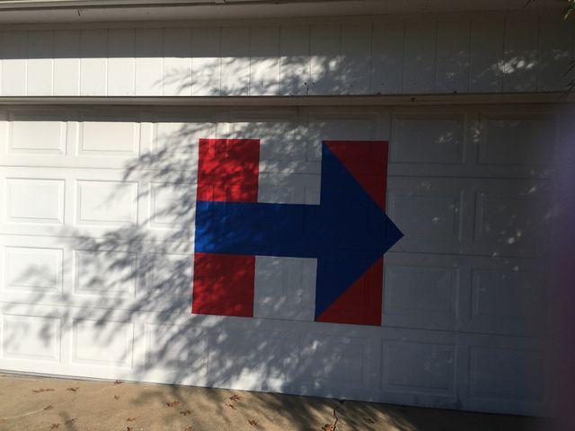 Hillary Clinton supporter retaliates by painting garage door after sign stolen - KJRH.com