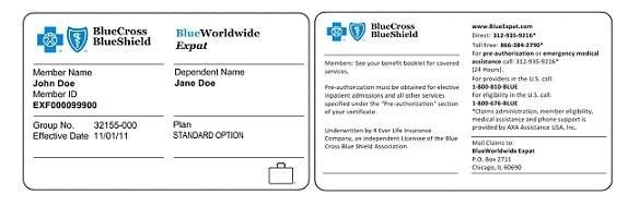Blue Cross Blue Shield Insurance Card Listmachinepro Blue Cross