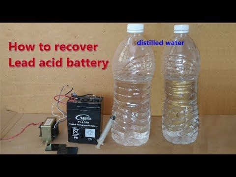 How to recover | repair old death lead acid battery - YouTube
