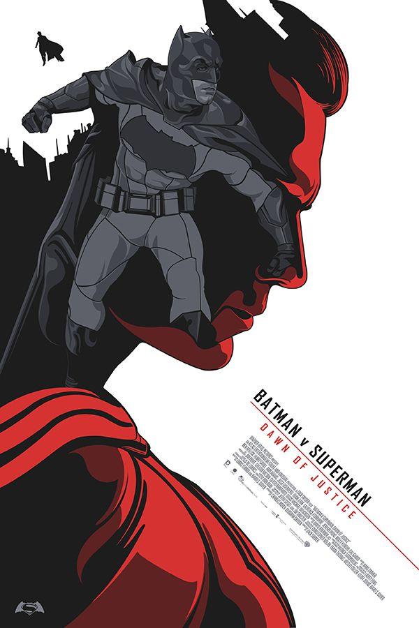Batman v Superman - Dawn of Justice - alternative movie poster #Fanart
