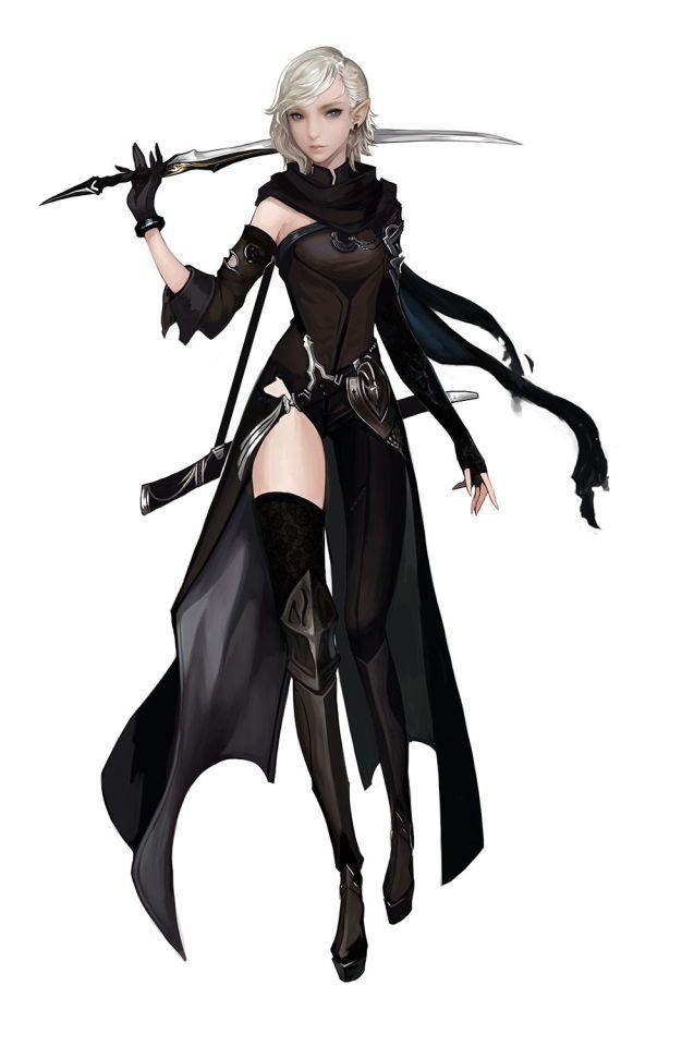 Female assassin in black                                                                                                                                                                                 More