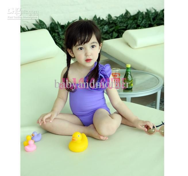 Wholesale Magic cube Girls One piece swimwear-Baby Swim suit Girls purple beachwear/bathing suit baby swimwear, Free shipping, $8.14-10.34/Piece | DHgate