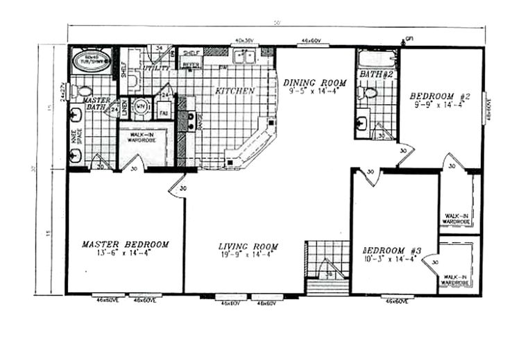 Manufactured home floor plan 2008 karsten cl 250a for Architecture design for 30x50 house