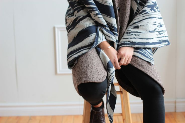 Maverick Stripe Shawl layers  Krista Norris