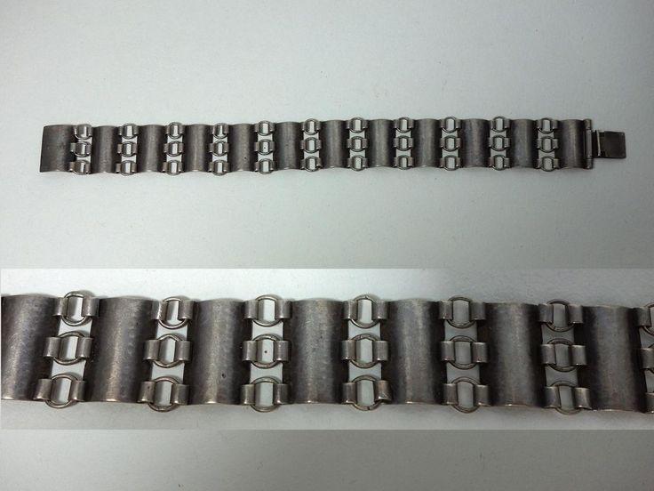 Art Deco Armband Bracelet WMF Ikora Hammerschlagdekor 835er 30er Jahre