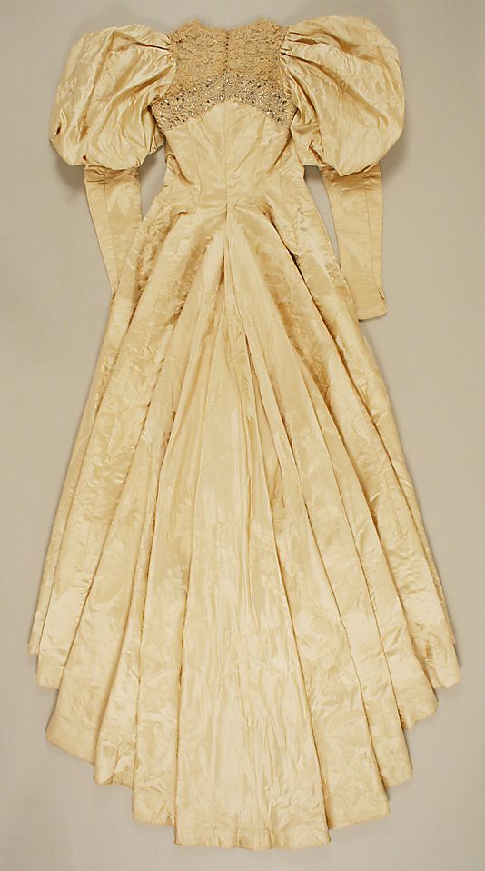 Wedding dress ca. 1896