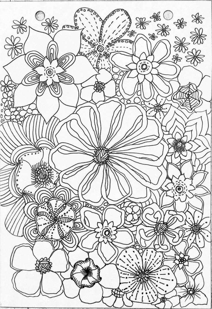 469 best flowers to color images on pinterest drawings coloring